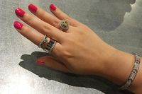 Sterling Silver Wide Multi Band Cuff Ring $86.00