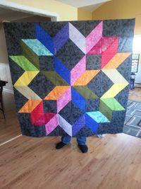 Rainbow Carpenters Star - sew along and tutorial from Mini Quilt A Week http://miniquiltaweek.blogspot.com
