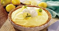 Fluffy Triple-Lemon Pie - Sweet and tart, this cool pie tastes like summer all year round.