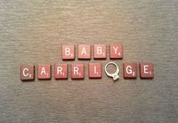 "Pregnancy Announcement - Scrabble fun everywhere! A small silver/gold safetypostto replace that ""A"" might also be fun to try... or pink/blue if gender is known/revealed by this point? :-)"