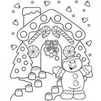 Gingerbread Lane Coloring Page - Free Christmas Recipes, Coloring Pages for Kids & Santa Letters - Free-N-Fun Christmas