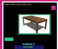 simple outdoor dining table plans