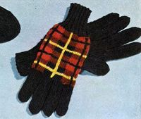 Wallace Tartan Gloves knit pattern from Tartans, Clark's O.N.T. J. Coats, Book No. 501, in 1951.