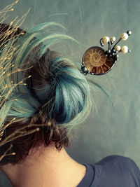 Chinese metal hair stick with Natural Ammonite and Natural Pearl, Hair Clip, hair sticks $44.00