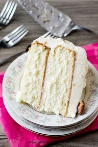 Almond Cream Cake Recipe - The perfect homemade white cake recipe. You'll never look for another! /explore/desserts/