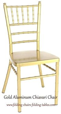 Larry Hoffman Chair.jpg  Gold Aluminum Chiavari Chair Super Strong 1,000 lbs Test. UV Protected Light Weight, NO Maintenance. Great for Country Clubs, Hotels, Rental Firms, Wedding Facilities. For buy or get information visit http://www.folding-chairs-f...
