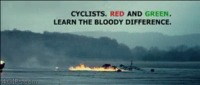Cyclists learn the difference between red and green funny gif #funny #humor #gif #funnygif #PMSLweb