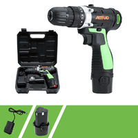 12V Li-ion Battery Rechargable Cordless Electric Screwdriver Single/Double Speed LED Light Electric