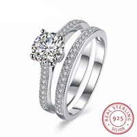 925 Sterling Silver Ring Sets Engagement Jewelry, Anniversary gift, Unique Ring Set $29.99