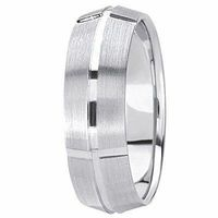 14K White/ yellow / rose Gold 6 millimeters wide Wedding anniversary Band gift for him $587.00