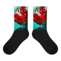 Mint Green and Red Ink Drop Socks $20.00