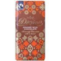 Divine Chocolate Divine Orange Milk Chocolate 100g The latest addition to the Divine range, bringing a tangy, zesty orange flavour, which compliments the smooth heavenly Divine milk chocolate bar. Made from cocoa grown by Kuapa Kokoo in Ghana.Why not http...