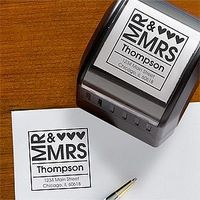 Instead of printing 500+ return address labels for thank yous, invites, save the dates, and replies, get a stamp!