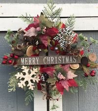 Rustic Christmas Wreath- Farmhouse Holiday Wreath- Christmas wreath- Xmas Wreath- Chicken wire Wreath- Pine Wreath $100.00