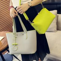 Simple Fashion Handbag High Quality PU Leather Women Shoulder Bag Large Capacity Shopping Tote Bags $50.98