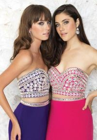 Long Slit Sparkly Beaded Prom Dresses by Madison James 15-168