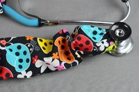 Stethoscope Cover Summer Print | Ladybug Stethoscope Cord Cover | Nurse Doctor Gift | Stethoscope Sock | Stethoscope Accessories $10.99