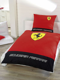 Formula One Racing Ferrari F33 Scuderia Logo Duvet Cover and 100% official merchandise. Machine washable. 100% Cotton. http://www.comparestoreprices.co.uk//formula-one-racing-ferrari-f33-scuderia-logo-duvet-cover-and.asp