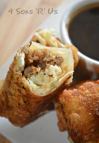 Why order take-out, when you can make your own perfectly crisped egg rolls right at home and serve them with a yummy side of sauce? Crispy Homemade Egg Rolls wi