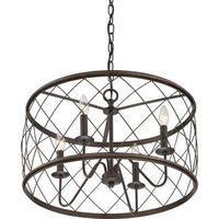 Trellis Cage Ceiling Chandelier - Kitchen