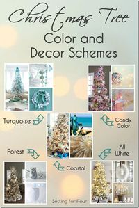 Have you decided what colors you are going to decorate your Christmas tree this year? All white? Red and silver? Turquoise? There are so many combinations and c