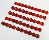Black Friday Carnelian gemstones, Gemstone for Jewelry, Calibrate size 10 Carnelian Round Cabochons 5mm Gemstones 6 carat $21.00