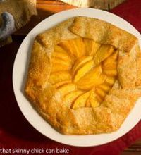 Peach Galette with That Skinny Chick Can Bake