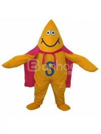 Yellow Starfish Plush Adult Mascot Costume