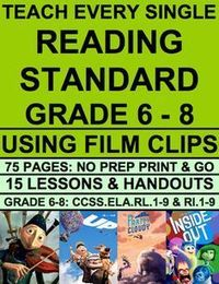 Teach EVERY reading literature and reading informational text common core state standard with film clips (Grades 6-8)! Common Core ELA Test Prep is FUN with VIDEO CLIP ACTIVITIES! Use videos to teach inferencing! Use pixar shorts to teach main ide...