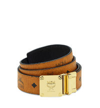 MCM Visetos Round Reversible Belt In Brown