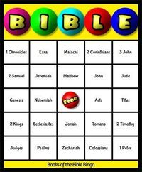 Books of the Bible BINGO (can select the number of cards you want)--Includes All books (cannot specify only Old or New Testament)