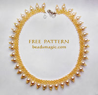 Free pattern for beaded necklace Sun Island