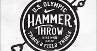 U.S. Olympic Hammer Throw Track & Field Trials (NIKE) #logo #typography