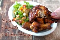 Raspberry Chipotle Chicken Wings are deliciously flavor-rich and easy to make in your own kitchen. Perfect as appetizers or a main dish. Visit Busy-at-Home for