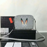 MCM Star Eyed Bunny Crossbody Bag In Grey