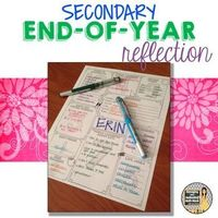 Middle School or High School End-of-the-Year Reflection Activity In the secondary classroom, we don't often get the opportunity to create the fun memory books or make big end of the year projects. But, reflecting and synthesizing are important parts...