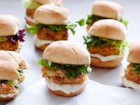 Get Jeff Mauro's Crab Cake Sliders with Blood Orange Aioli Recipe from Food Network
