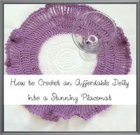 crochet doily placemat How to Crochet an Affordable Doily into a Stunning Placemat