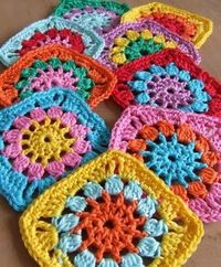 Crochet - Granny squares pattern