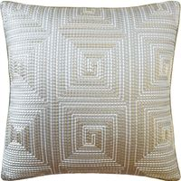 Edge Stitch Platinum Pillow by Ryan Studio $305.00