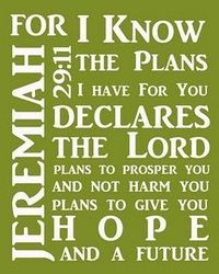 Free Jeremiah 29: 11 Printable from