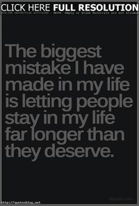 Life biggest mistake quote