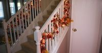 This is a post I did from last year, just re-posting cause we are sorta busy at the moment! Hope that is okay! Within my home I have two banisters. It is fun to