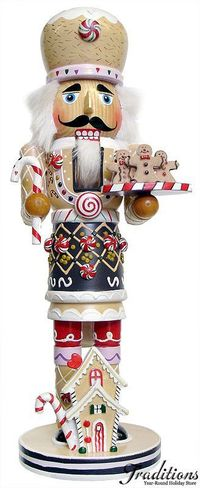 Gingerbread nutcracker - Nutcracker ornaments and decor for the Nutcracker Suite collector from Christmas Traditions