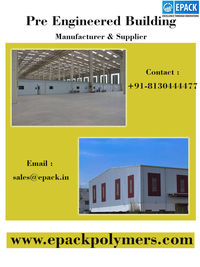 There are various Pre Engineered Building Manufacturers but EPACK Polymers Private Limited is a well known pre engineered buildings company since 1999 and provides best steel building solution for residential & non-residential buildings in India. http...