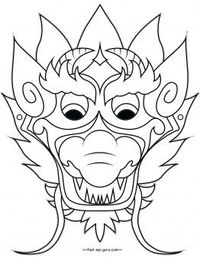 printable chinese dragon mask coloring pages cut out for kids free online print out chinese