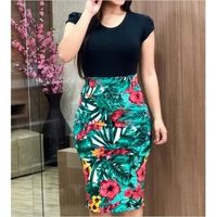 Vintage Summer Green Floral Dress Sexy Dress $17.95