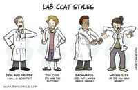 Lab coat styles... I'm the TOO COOL to use buttons. Lol