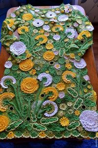 irish lace dandelion dress