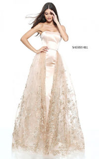 Nude 51244 Fitted Senior Prom Dress by Sherri Hill